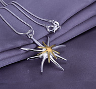 Silver Star Fish Pendant Necklace