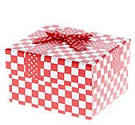Bowknot Dekor Gitter-Muster Cubic Watch Box