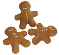 Cute Gingerbread Cookie Shaped Plush Squeaking Toy for Pets Dogs