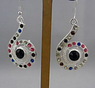 Fashion Silver with Crystal Earrings for Women