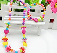 Любовь Цветной Акрил Крестообразной формы Цвет радуги Цвет экрана 1 ожерелье 1 браслет Для Для вечеринок 1 комплект Свадебные подарки