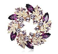 cristal multicolor broche de flor