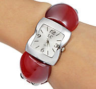 Women's Square Dial Resin Band Quartz Analog Bracelet Watch (Assorted Colors) Cool Watches Unique Watches