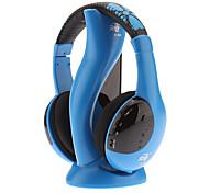 Hi-fi Стерео наушники с оголовьем, беспроводные, голубого цвета