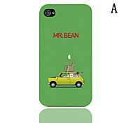 Cartoon Car Series Pattern Hard Case with 3-Pack Screen Protectors for iPhone 4/4S