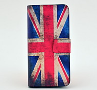 Vintage Union Flag Pattern Full Body Leather Tpu Case for iPhone 5C