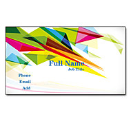 200pcs Personalized 2 Sides Printed Matte Film Colorful Triangle Pattern Business Card
