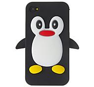 Patrón Duck 3D Caso suave de silicona para el iPhone 4/4S