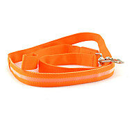Nylon Safety LED Lights Leash for Pets Dogs (Assorted Colors)