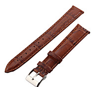 Unisex 18mm Crocodile Grain Leather Watch Band (Brown) Cool Watch Unique Watch