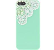 Dulce Diseño Menta Verde del caso duro con encaje y perlas para el iPhone 5/5S