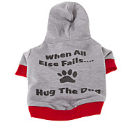 Dog Coat / Hoodie Blue / Gray Dog Clothes Winter Letter & Number