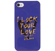 """I Lock Your Love"" Pattern Purple Smooth Anti-shock Case for iPhone 4/4S"