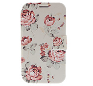 Small Fresh Florals Leather Case with Stand for Samsung Galaxy Note 2 N7100