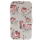 Frische Blumen Kleine Ledertasche mit Ständer für Samsung Galaxy Note N7100 2