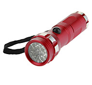 14xLED Mini Fluorescent Flashlight Torch (110LM, 3xAAA, Red)
