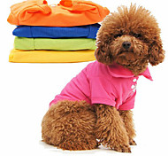 Pure Color Cotton Polo T-shirt for Pets Dogs (Assorted Sizes, Random Color)