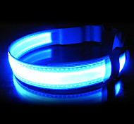 Adjustable Nylon LED Collar for Pets Dogs(Assoted Colors,Sizes)