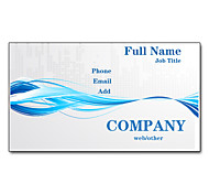 200pcs Personalized 2 Sides Printed Matte Film Blue Waves Pattern Business Card