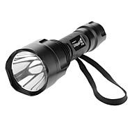 UniqueFire X8 Single-Mode Cree XP-E Q5 LED Flashlight (240LM, 1x18650, Nero)