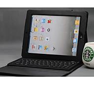 Schutzetui aus PU-Leder für iPad 2/3/4 mit Bluetooth-Tastatur (ohne Kabel)