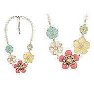 New Korea - Pearl Flower Necklace N375