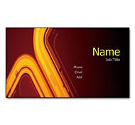 200pcs Personalized 2 Sides Printed Matte Film Yellow Light Pattern Business Card
