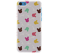 Colorful Rabbits Pattern Hard Case for iPhone 5C