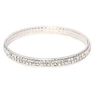 Victoria cristal tchèque double rangée Silvr bracelet de bracelet