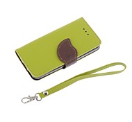Leat Pu Leather with Black Tpu Wallet Case for iPhone 5C