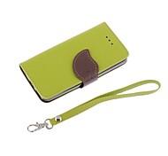 Лит искусственная кожа с черными TPU бумажник случае для iphone 5с