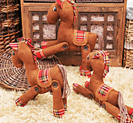 Original Flexible Brown Suede Fabric Horse Doll Gift(20*32cm)