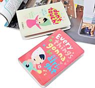 Encantador dos desenhos animados Menina Teste padrão do cartão (32 Detém)