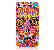 Original Dizzy Skull Pattern Transparent Frame Back Case for iPhone 4/4S