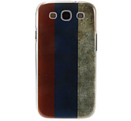 Triple-Colors Stripes Pattern Plastic Protective Hard Back Case Cover for Samsung Galaxy S3 I9300