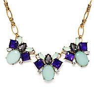Luxuriou Green Oval tatement Necklace