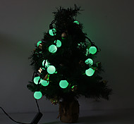 5M 15W 20-LED Green Light Ball Shaped LED Strip Light (220V)