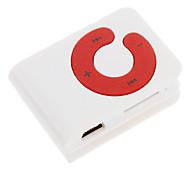 Leitor de cartão TF MP3 Bag Jogador Forma com Clip Branco