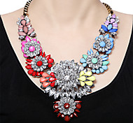 Luxury Shourouk Chain Chunky Necklace  Flower Statement Necklace