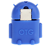 Micro USB 2.0 to USB 2.0 M/F OTG Adapter Blue