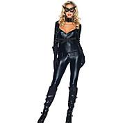 Costume Party Carnaval de Catwoman classique noir PU cuir femmes