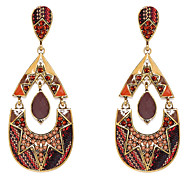 Brown Water-Drop Shape Drop Earrings