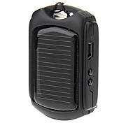 600mAh Solar Power Bank External Battery for Mobile Device Black