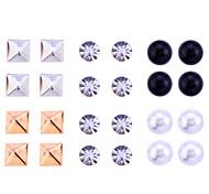 lureme®12 rivetti paia di moda cristalli Orecchini