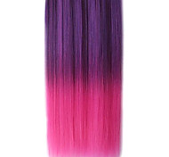 25 Inch Clip in Synthetic Purple and Pink Gradient Straight Hair Extensions with 5 Clips
