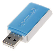 4-in-1 USB 2.0 Multi-Card Reader (Blue)