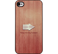 Arrow Indicating Keeping Moving Forward Pattern PC Hard Case with 3 Packed HD Screen Protectors for iPhone 4/4S