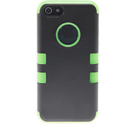 3-in-1 Design Black Hard Case with Solid Color Silicone Inside for iPhone 5C (Assorted Colors)