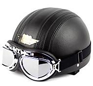 998-1n1 de haute qualité moto mignon casque avec lunettes