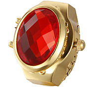 Women's Crystal Pattern Dial Gold Alloy Quartz Analog Ring Watch (Assorted Colors) Cool Watches Unique Watches
